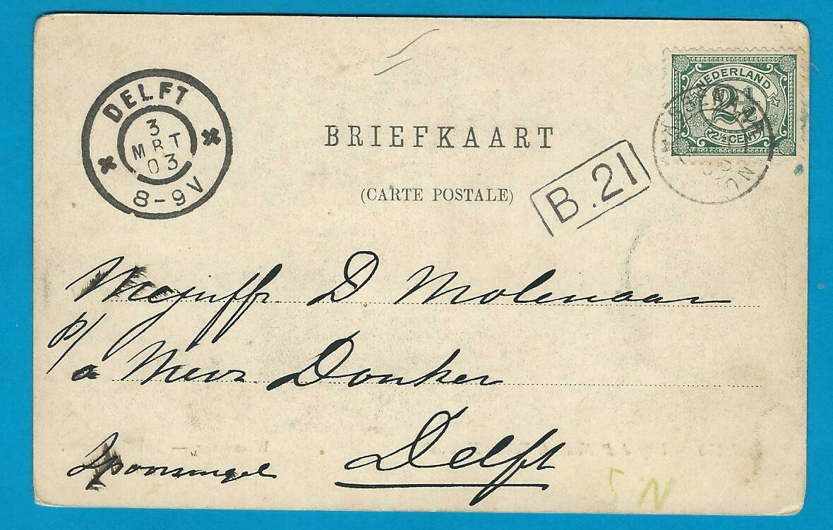 NEDERLAND prentbriefkaart Bakkershagen 1903 Wassenaar