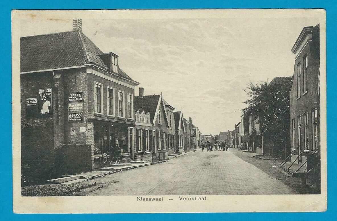 NEDERLAND prentbriefkaart 1938 Klaaswaal met treinstempel