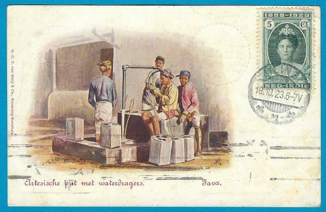 NETHERLANDS EAST INDIES PPC 1923 Wlingi to Russia