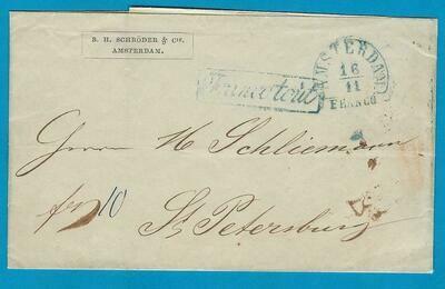 NEDERLAND drukwerk 1849 Amsterdam naar Rusland
