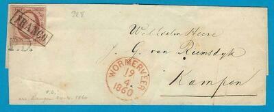 NEDERLAND omslag 1860 Wormerveer naar Kampen
