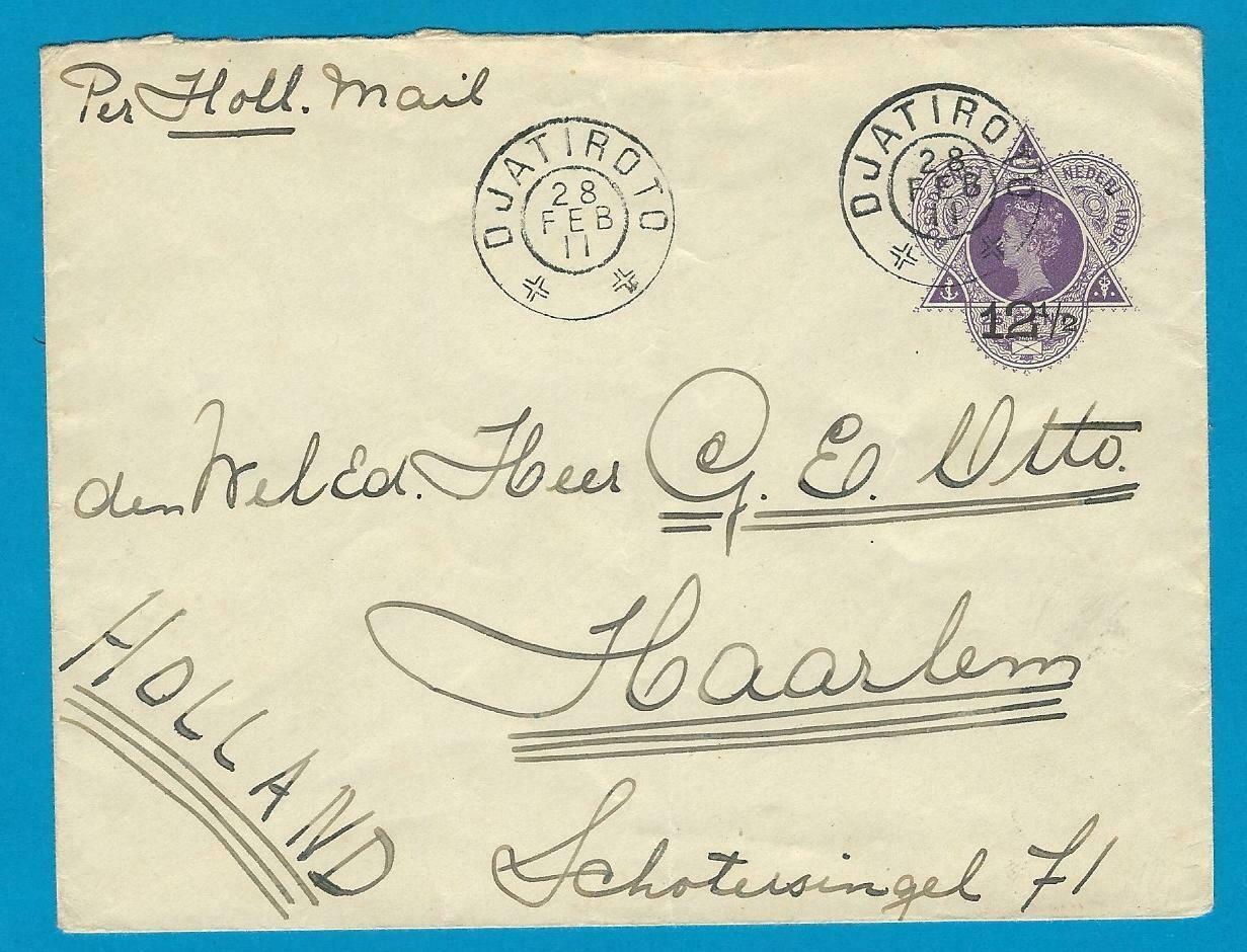 NETHERLANDS EAST INDIES envelope 1911 Djatiroto to Netherlands