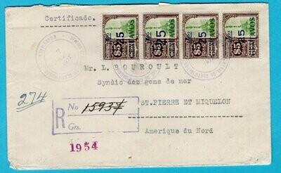 GUATEMALA R cover 1922 Guatemala to St Pierre et Miquelon