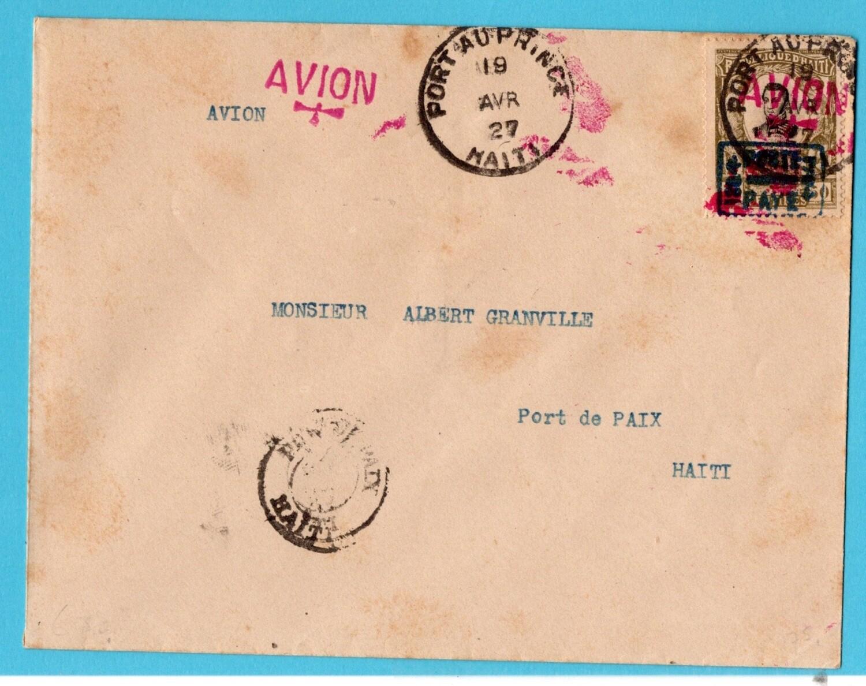 HAITI air cover 1927 Port au Prince to Port de Paix