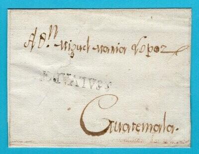 EL SALVADOR cover sheet around 1814 Salvador to Guatemala