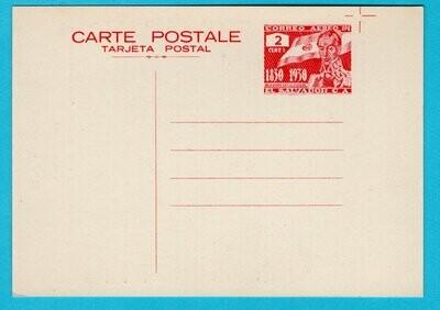 EL SALVADOR postal card 1930 Simon Bolivar ** MNH