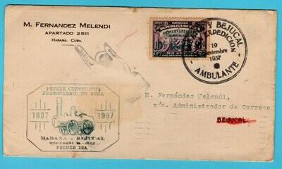 CUBA cover 1937 Ambulante Habana y Bejucal