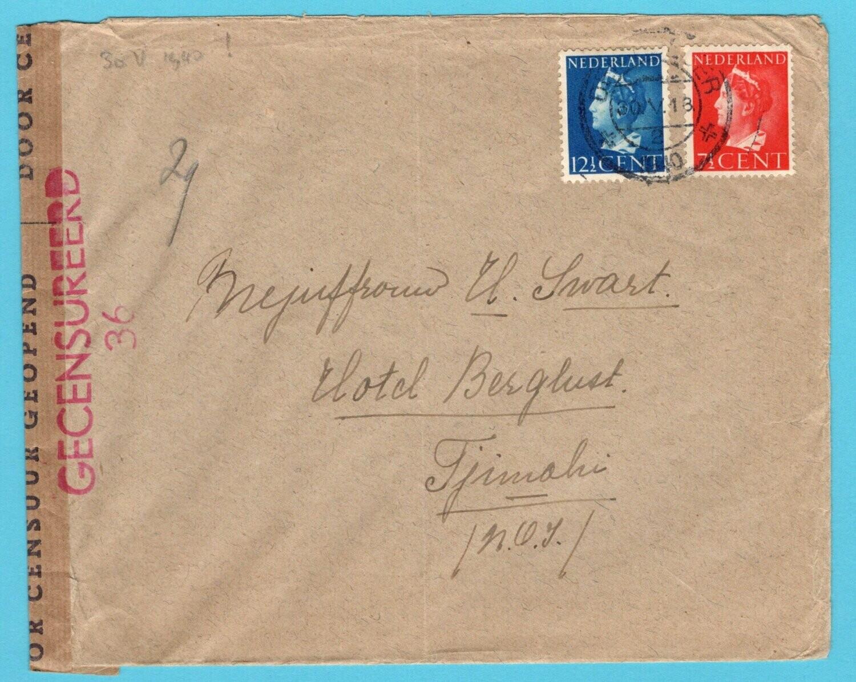 NEDERLAND brief 30-V-1940 Den Helder naar Indië met censuur
