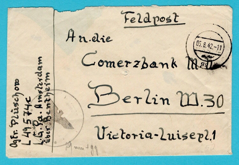 NEDERLAND veldpost brief 1942 Postambt Amsterdam naar Berlijn