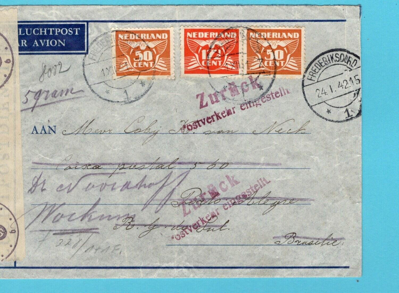 NEDERLAND LATI brief 1-12-1941 Frederiksoord verbinding verbroken