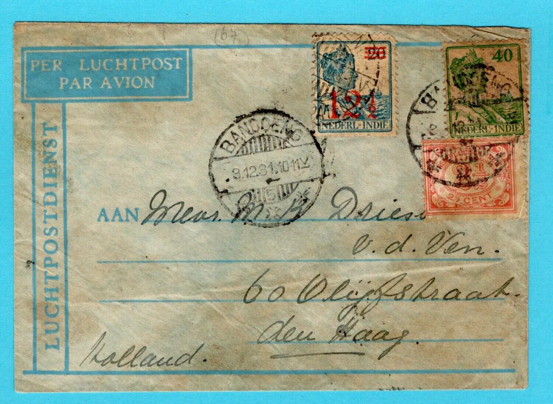NETHERLANDS EAST INDIES crash cover 1931 Ooievaar