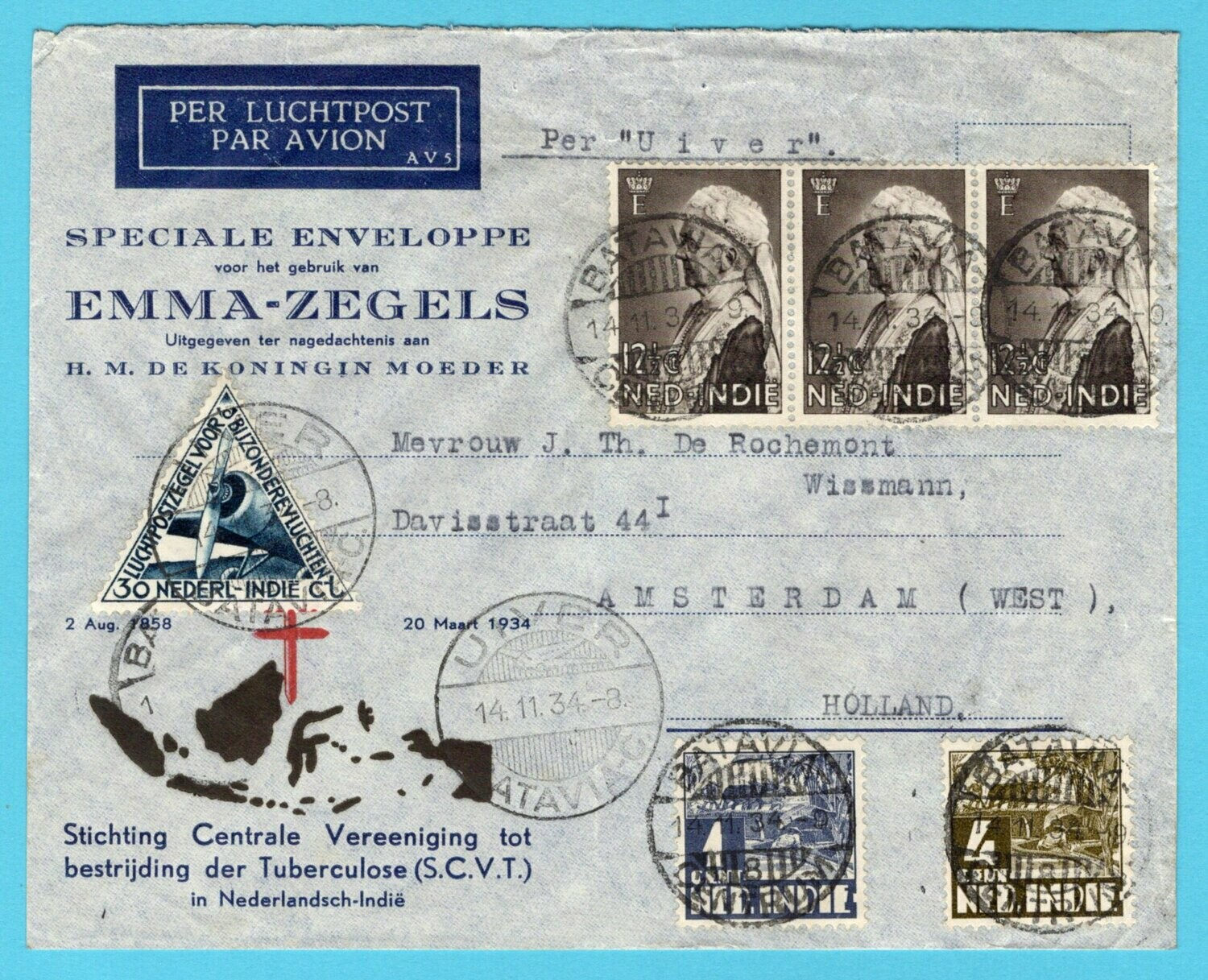 NETHERLANDS EAST INDIES air cover 1934 too late for UIVER