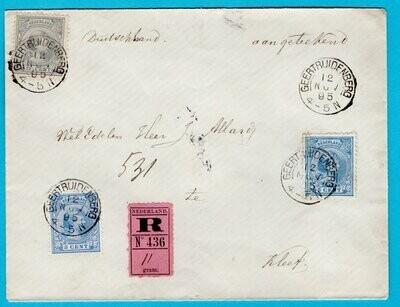 NEDERLAND R brief 1895 Geertruidenberg naar Duitsland