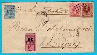 NEDERLAND R envelop 1892 Rotterdam naar Duitsland