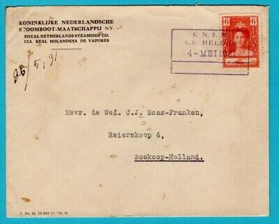 CURAÇAO cover 1931 KNSM S.S. Helder to Boskoop