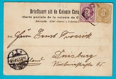 CURAÇAO PPC harbor 1903 Curaçao to Germany