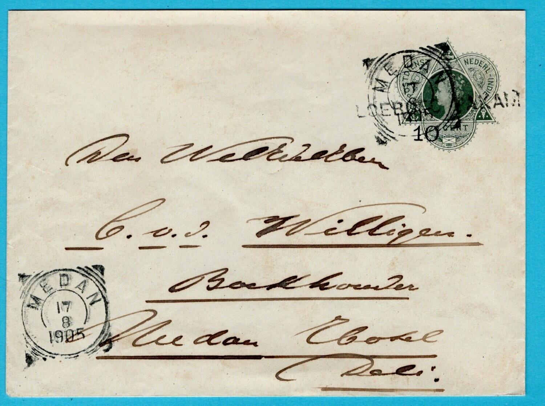 NETHERLANDS EAST INDIES postal envelope 1905 Loeboeg Pakam