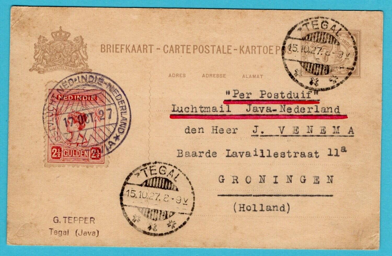 NETHERLANDS EAST INDIES Koppen flight 1927 Tegal