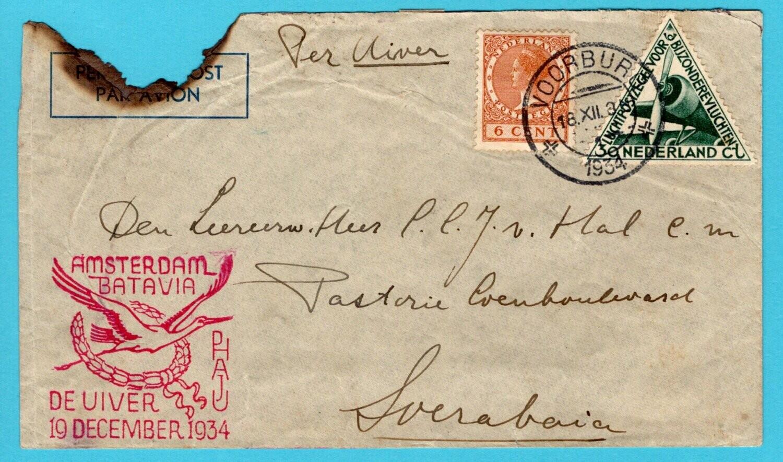 NEDERLAND Uiver rampvlucht 1934 Voorburg naar Soerabaja