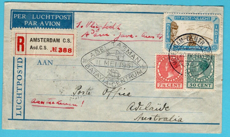 NEDERLAND Abel Tasman R vlucht 1931 Amsterdam -Batavia -Australië