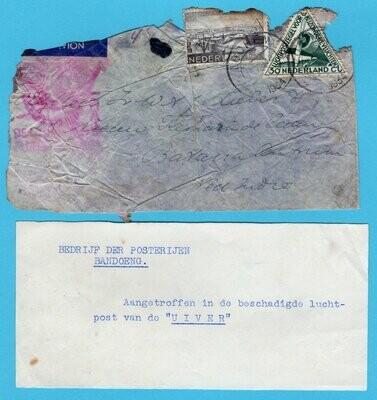 NEDERLAND Uiver ramp post 1934 Lochem met special strookje