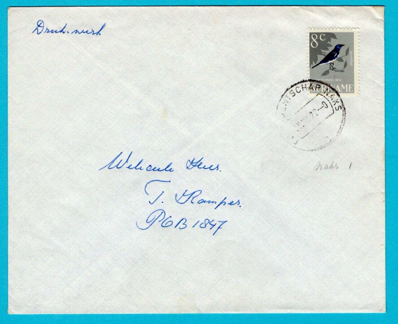 SURINAME drukwerk 1972 Postagentschap Naks