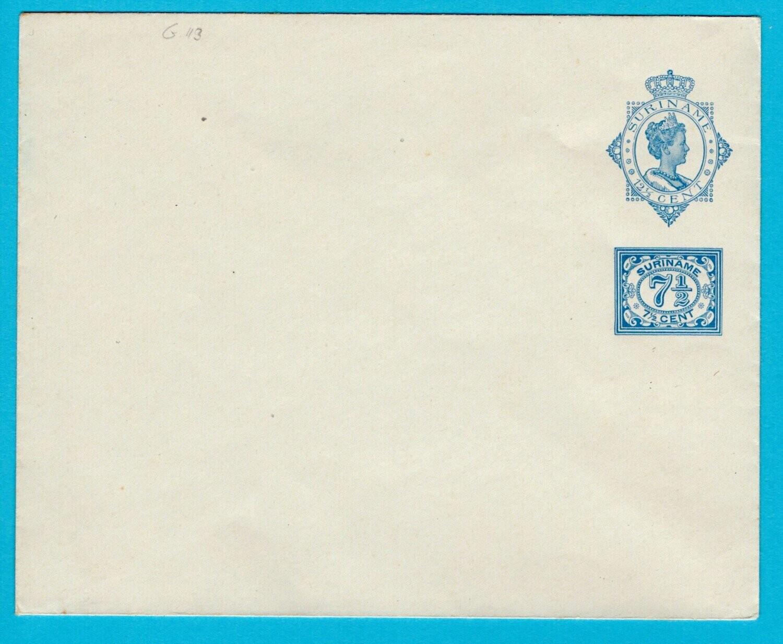 SURINAME envelop 1924 Geuzendam 13 ongebruikt