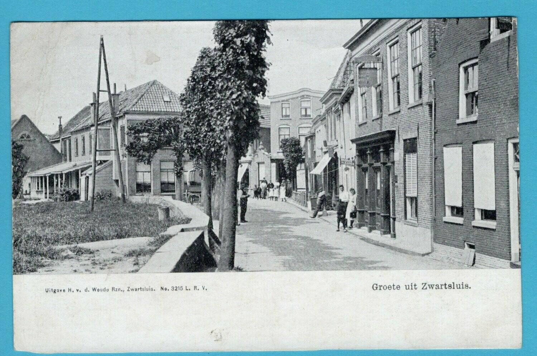 NEDERLAND prentbriefkaart 1918 Zwartsluis