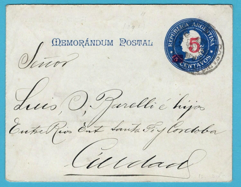 ARGENTINA letter sheet 1902 Rosario Lapataia illustration