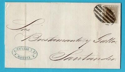 CUBA entire 1882 Habana to Santander Spain