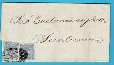 CUBA entire 1876 Havana to Santander Spain