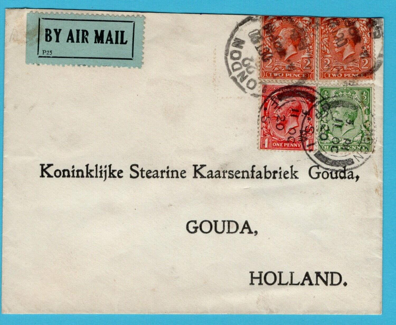 ENGELAND luchtpost brief 11-10-1920 London naar Gouda