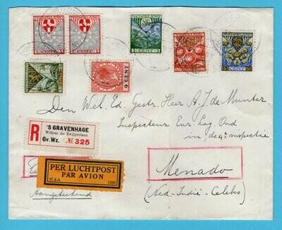 NEDERLAND R lp brief 1927 's Gravenhage naar Indië