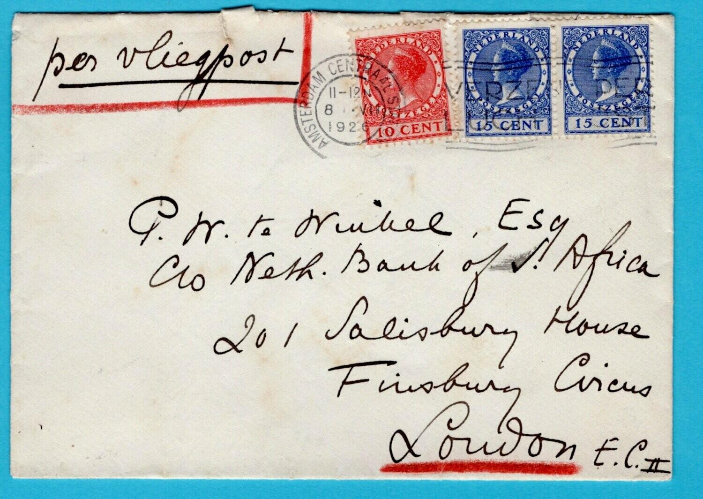 NEDERLAND luchtpost brief 1926 Amsterdam naar London