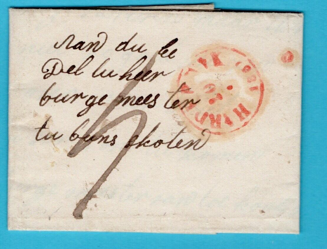 NEDERLAND complete brief 1859 Harderwijk naar Bunschoten