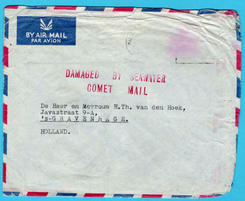 MALAYA crash cover 1954 BOAC