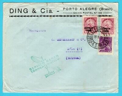 BRAZIL Zeppelin cover 1932 Porto Alegre to Switzerland
