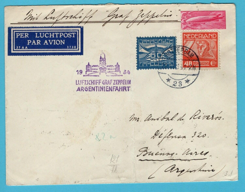 NEDERLAND Zeppelin Argentinië fahrt 1934 Rotterdam
