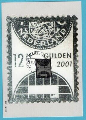 NEDERLAND maximumkaart 2001 zilveren R zegel