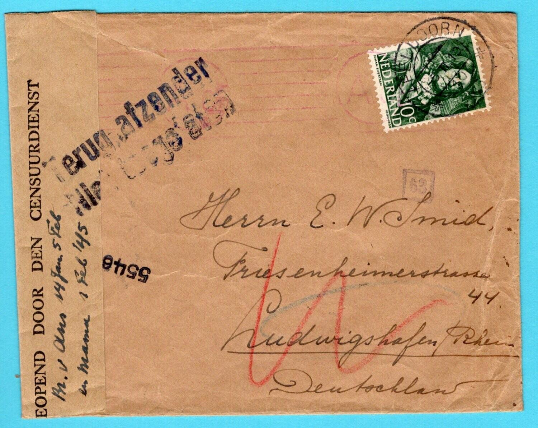 NEDERLAND überroller 5-II-1945 Apeldoorn naar Duitsland
