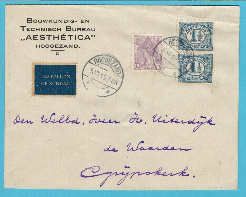 NEDERLAND brief 1919 Hoogezand