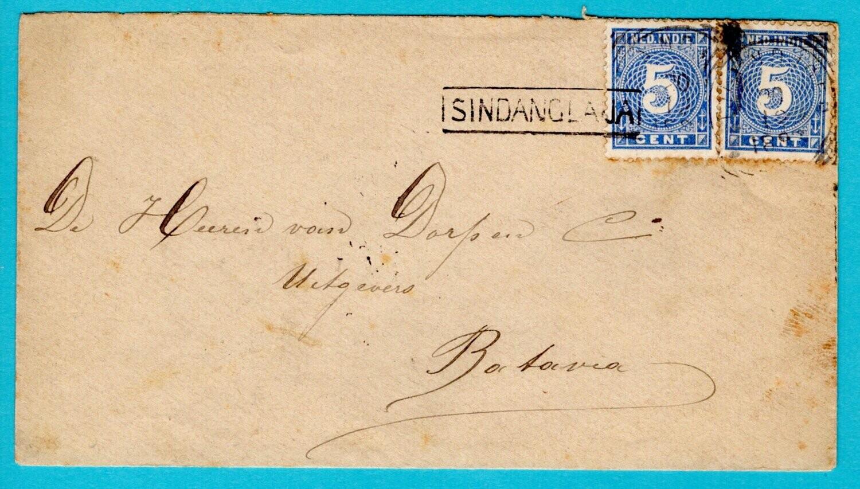NETHERLANDS EAST INDIES cover 1893 Sindanglaija