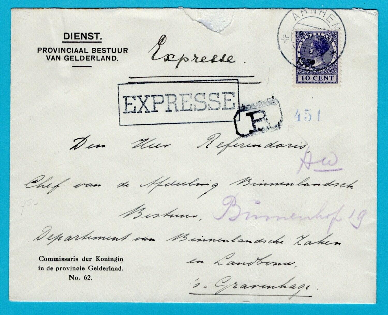 NEDERLAND expresse dienst brief 1932 Arnhem naar Den Haag