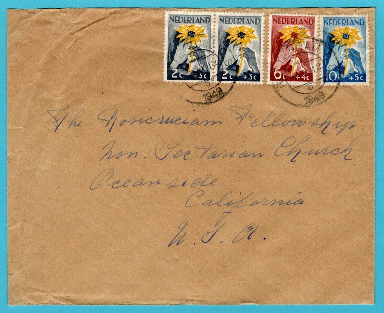 NEDERLAND brief 1949 Rotterdam naar USA
