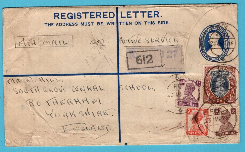 NETHERLANDS EAST INDIES India FPO 612 R envelope 1946 at Batavia