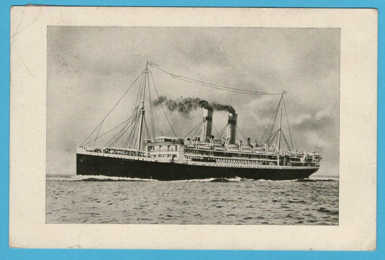 NEDERLAND prentbriefkaart 1919 Kon.Holl. Lloyd S.S. Gelria