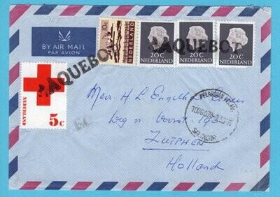 NEDERLAND paquebot brief 1974 Maleisië naar Zutphen