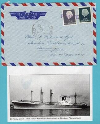 NEDERLAND paquebot brief 1971 Port Swettenham de SchieLloyd