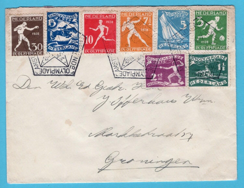 NEDERLAND brief 1928 Amsterdam Olympiade stempel