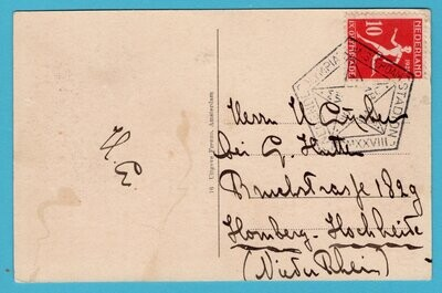 NEDERLAND prentbriefkaart 1928 Amsterdam Olympiade